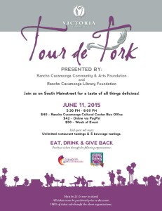 Get a Taste of the Inland Empire at the 3rd Annual Tour De Fork Event at Victoria Gardens #TDF2015