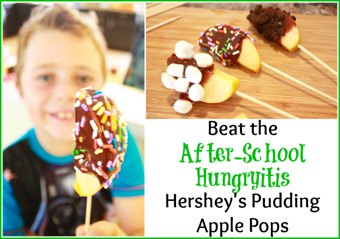 Beat the after school hungryitis Hershey's Pudding Apple Pops!