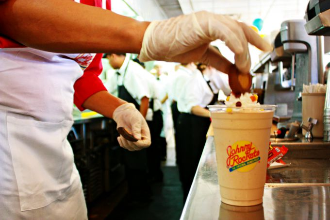 Reese's Chocolate Peanut Butter Cup Milk Shake at Johnny Rockets