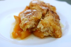 3 Ingredient Peach Cobbler Recipe - The Funny Mom Blog