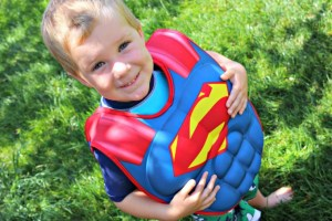 RAD For Summer: Superman Boys 3D Muscle Flotation Vest