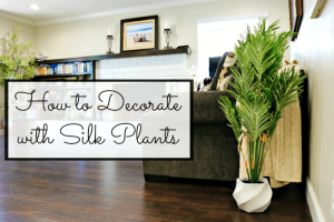 Bringing a Cool and Cozy Vibe to a Home with Silk Plants