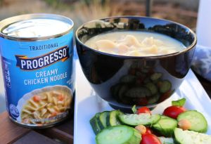Sweater + Progresso Creamy Chicken Noodle Soup Weather