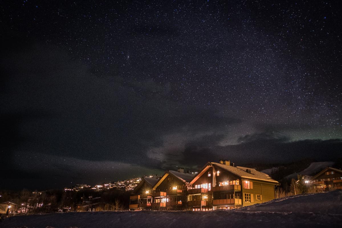 Starry night at Beitostølen, Norway