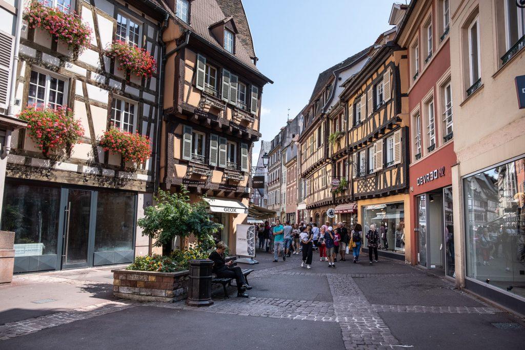 Colmar, Alsace, France, Frankrike, gate, street,