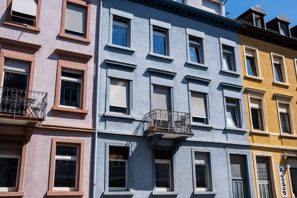 Freiburg im Breisgau , Tyskland Germany, Baden Württemberg, pastel, pastell, street, hus, gate
