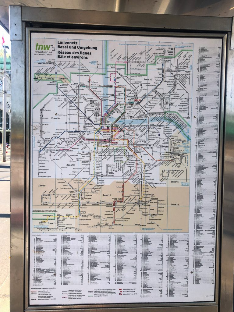 Basel, Switzerland, Europe, Summer, big city, tram map