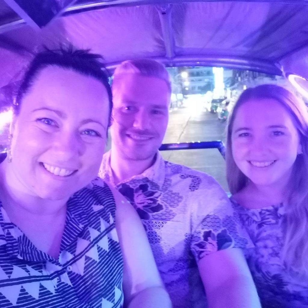 tuktuk, Bangkok, reise, venner