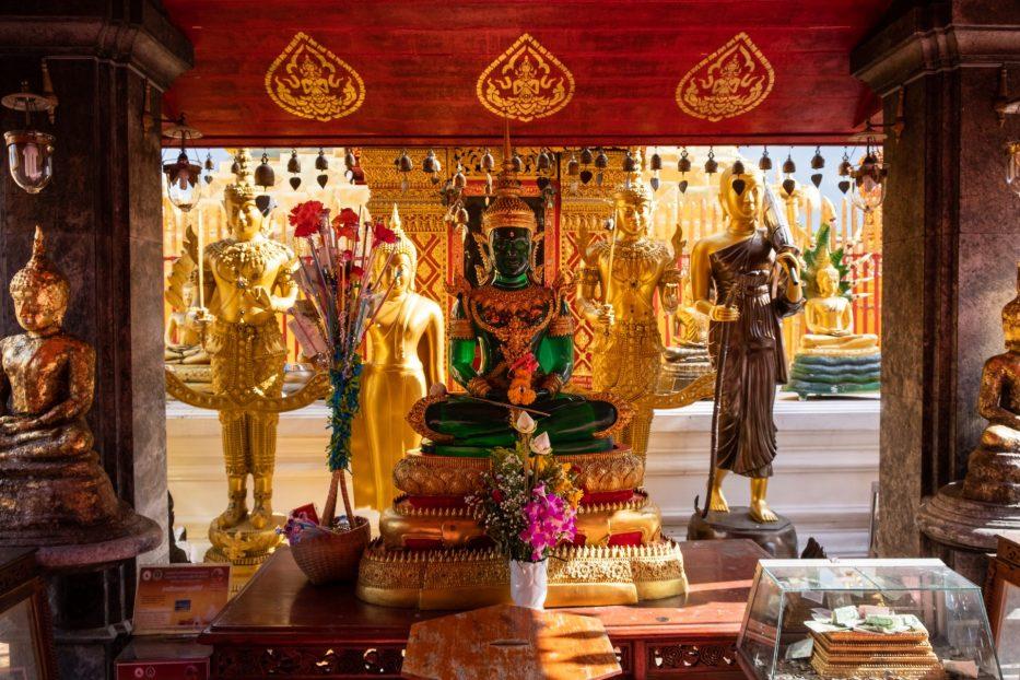 Thailand, Chiang Mai, templer, gull, Buddha, reise