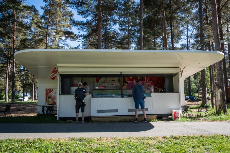 Ice cream stand at Canvas Hove