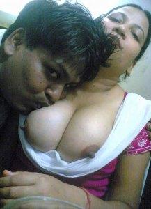 men licking nude boobs