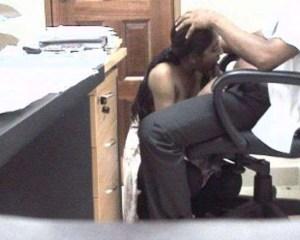 desi secretary giving blowjob