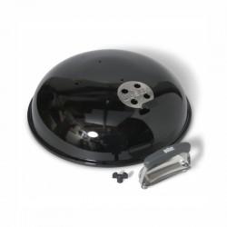 couvercle noir avec trou pour thermometre pour barbecue 57 cm weber