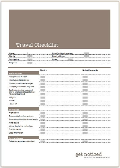 international business travel checklist distination co