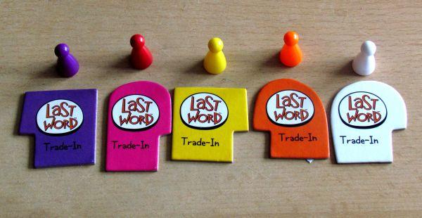 Last Word Game - žetony a figurky