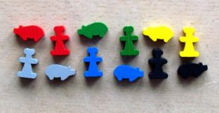 Carcassonne: Kupci a stavitelé - figurky