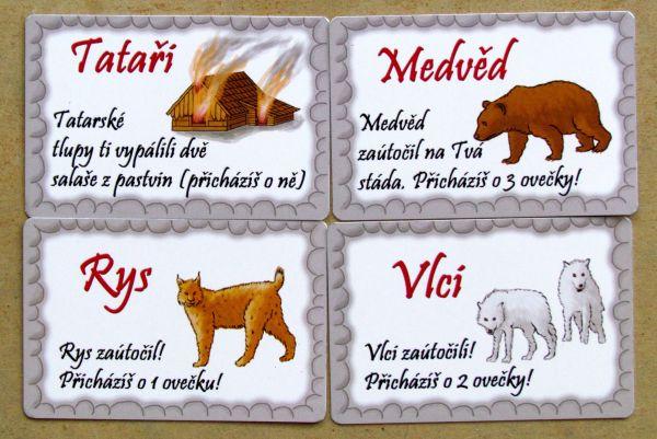 Valdojka - karty