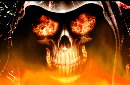 fire skull wallpapers