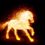 Fire Horse Animated Wallpaper
