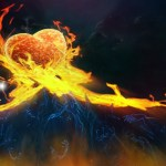 Burning Hearts Animated Wallpaper