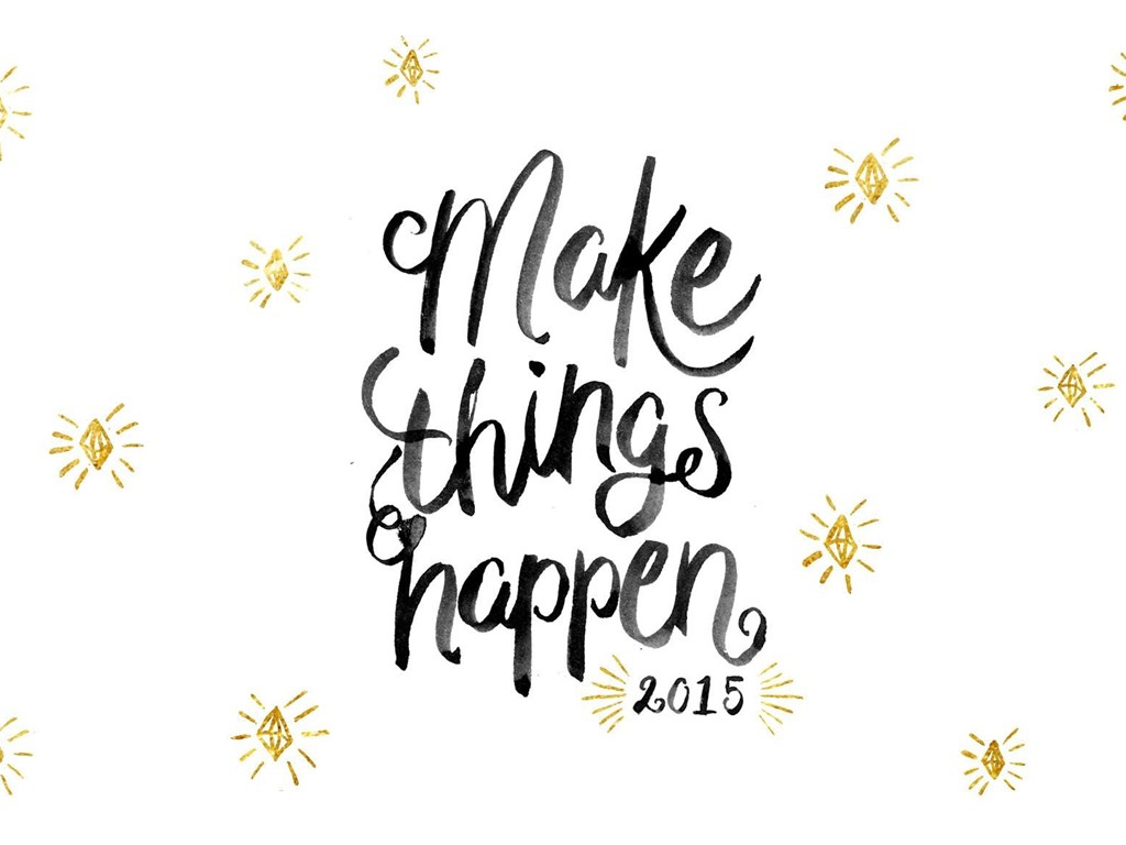 Black White Gold Make Things Happen Desktop