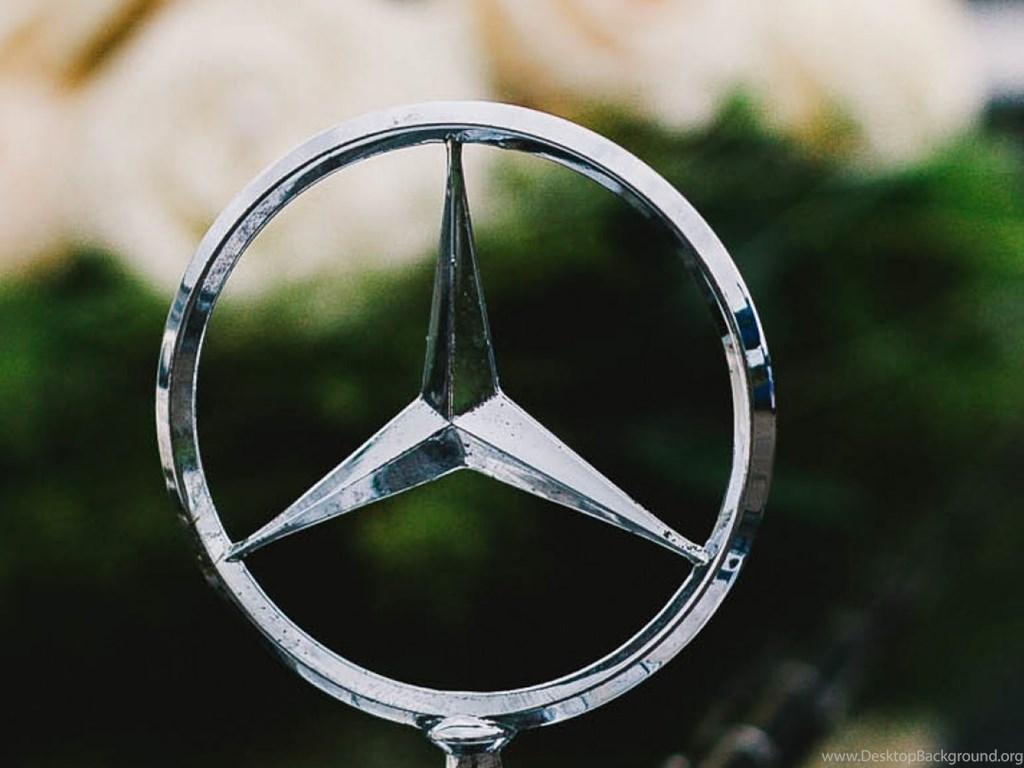 Hd Backgrounds Mercedes Benz Logo Badge Vintage Car