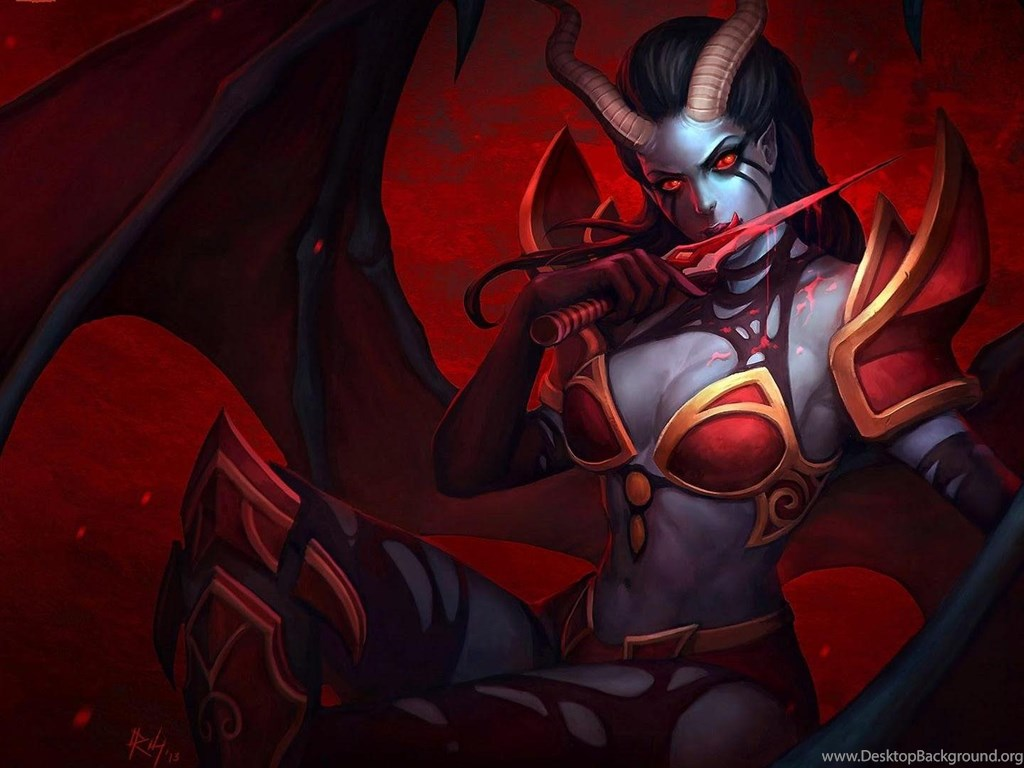 Succubus Dota 2 HD Wallpapers Desktop Backgrounds Mobile Desktop Background