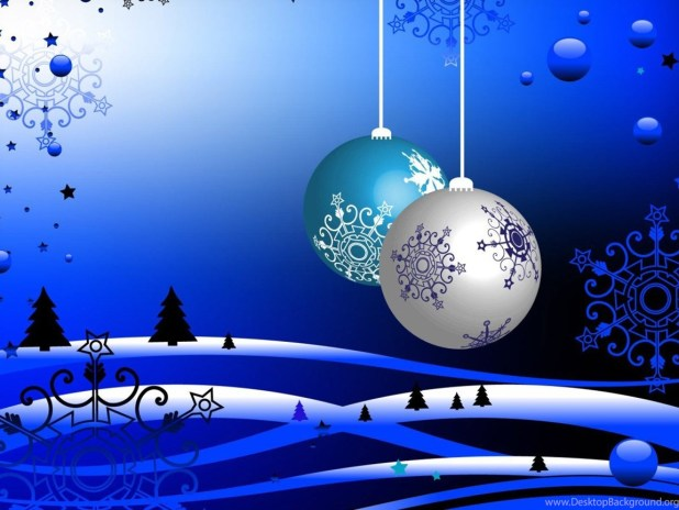 blue free christmas wallpapers and screensavers for windows 7 jpg