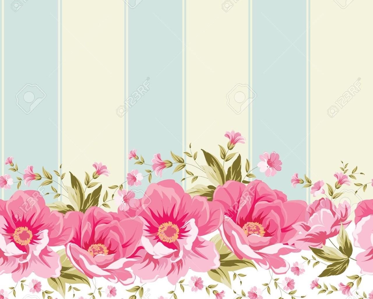 Vintage Flower Wallpapers Desktop Background