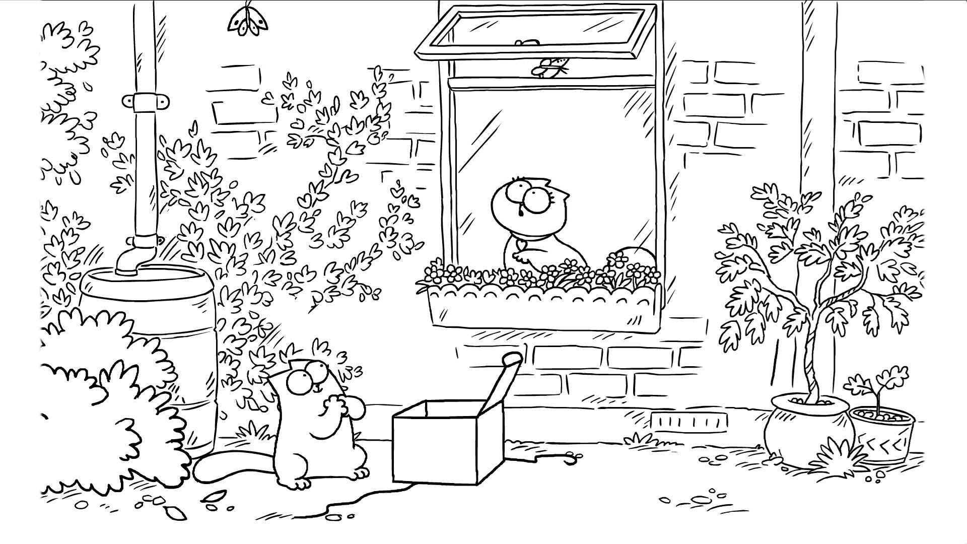 Simon S Cat Tries To Woo His Valentine With Butterflies