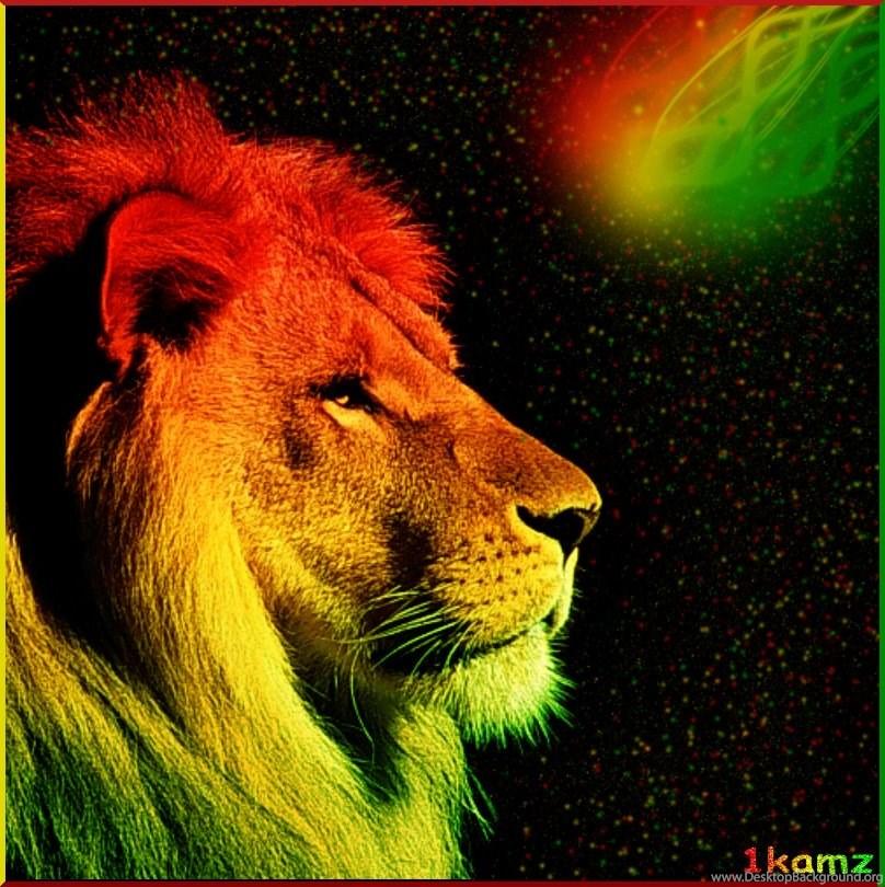 Rasta Lion Desktop Backgrounds Wallpaper Background
