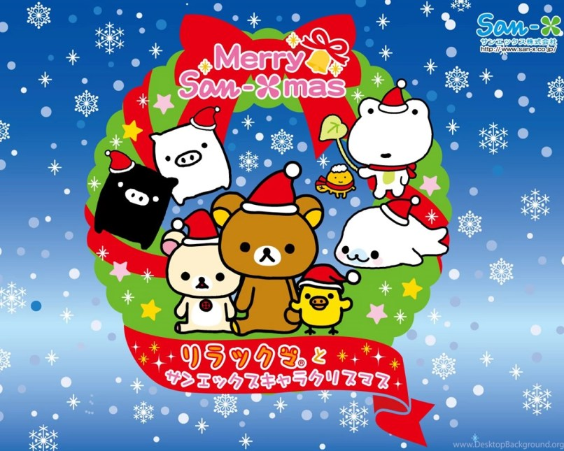 Kawaii Christmas Desktop Wallpaper | Reviewwalls.co