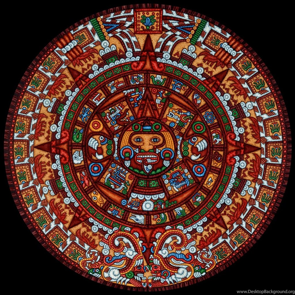 Aztec Calendar Desktop Background