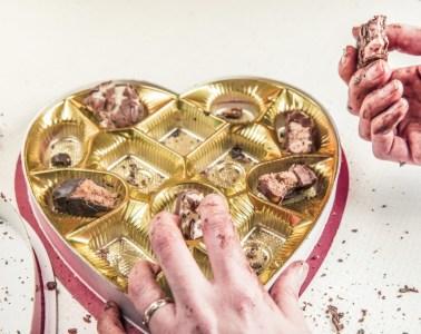bonbons, chocolade, Valentijnsdag, vraatzucht