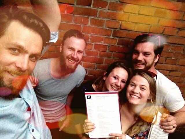 Het team van Doggerland Craft Cider