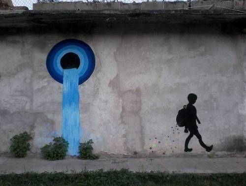 Graffiti anónimo en la colonia Magisterial, Tuxtla Gutiérrez, Chiapas
