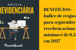 Reajuste previdenciário 2017 INSS