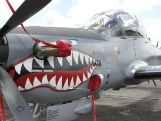 Aviones Súper Tucanos En la Base Aereas de San Isidro.