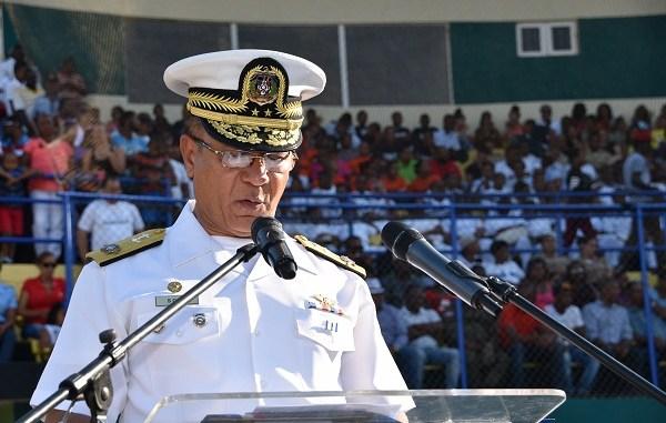 Vicealmirante Juan Ramón Soto de la Rosa, ARD, presidente del Consejo Directivo del Círculo Deportivo de las Fuerzas Armadas y de la Policía Nacional.