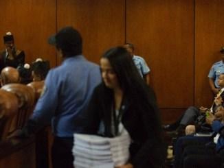 Vista de la audiencia del 30 de mayo de 2017 para conocer la solicitud de coerción de la Procuraduría.