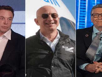 Elon Musk, Jeff Bezos y Bill Gates