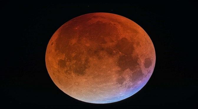 luna 'súper azul de sangre'.