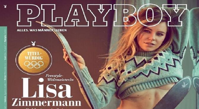 Una lesión le impidió estar en los Juegos Olímpicos de Invierno y desquitó su bronca con un desnudo en Playboy