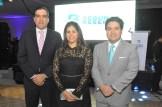 Erick Mejía, Paola de Campos y Alejandro Campos.