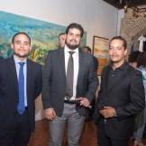 Abraham Victoria, Benjamín Orozco y Alan Estévez.