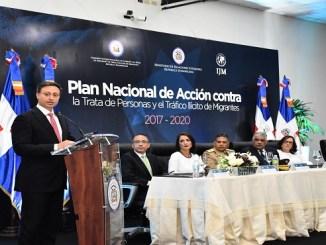 El procurador Jean Rodríguez valoró el trabajo en conjunto con la Cancillería para la implementación de dicho plan, el cual dijo que viene a fortalecer la lucha contra esa práctica ilegal del crimen organizado.