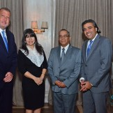 Luis Valdez, Betzy Díaz, Jorge Merete y Carlos Mejía.