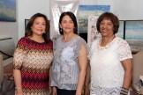 Elianna Fernández, Rita Álvarez y Rosa Roa de López.