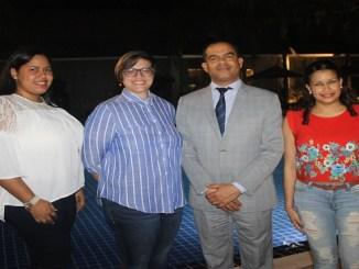 Rasael Quezada, Sugey Ferreira, Cesar Guilamo y Judift Feliz