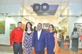 Radhames Rodriguez, Ana Virginia Garcia, Alescar Ortiz y Rosanna Firpo.